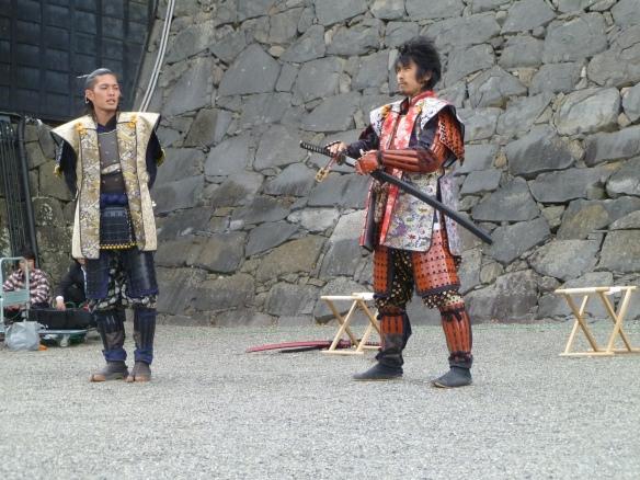 Les 2 comédiens-samurai, avec un katana en plastique. Mais c'était intéressant quand même.