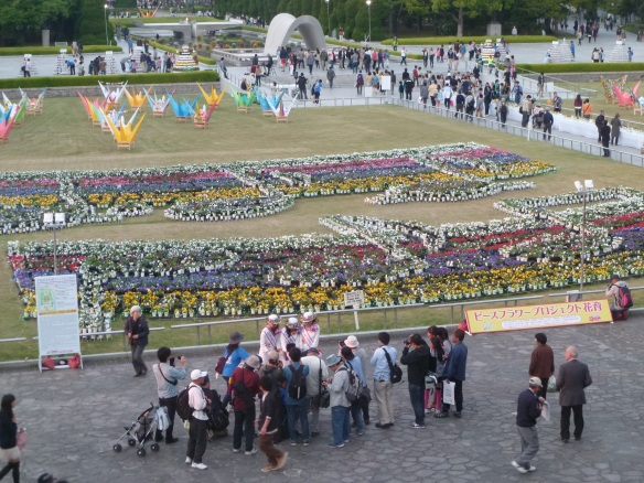 La fêtes des Fleurs à Hiroshima, dans le Parc de la Paix.