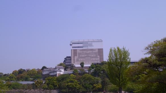 La majeure partie du château d'Himeji est en travaux. Ca gâche franchement le panorama...